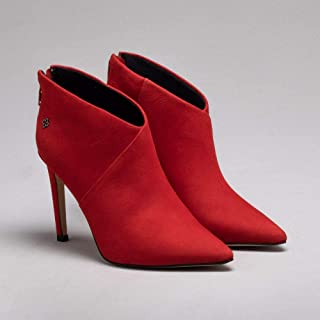 Ankle Boot Nobuck Rosso