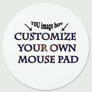 Personalized Round Mouse Pad - Add Pictures, Text, Logo or Art Design and Make Your own Customized Mousepad - Gaming, Office, Mousepad.