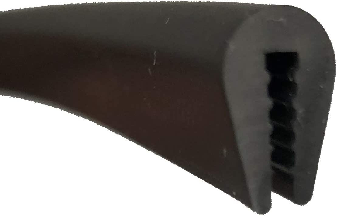Rubber Edge Trim, Fits Edge up to 1/16 inch (1.6mm), Length 10 Feet (3.05 Meter)