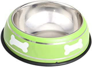 HOUZE Pet Steel Bowl, 18cm, Green