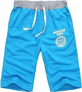 waitFOR Shorts for Men, Man Summer Solid Color Beach Shorts Teen Boys Drawstring Cargo Shorts for Men Casual Sport Joggers...