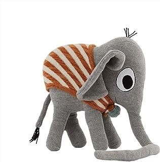 OYOY Mini – Dekorationskudde barn elefant Henry grå – utomhus bomull insida återvunnen polyester enligt ekotex – mjuk och ...
