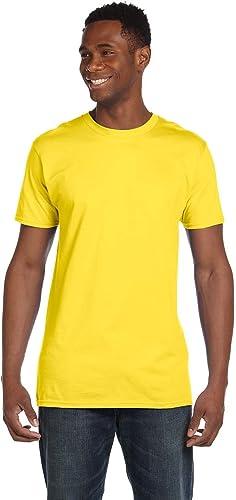 Hanes 4980 T-Shirt Nano pour Homme 1 Vintage Rouge + 1 Jaune S