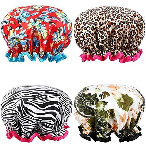 TianranRT Perfect For Hair Lot de 4 caps étanches à l'eau extra Large