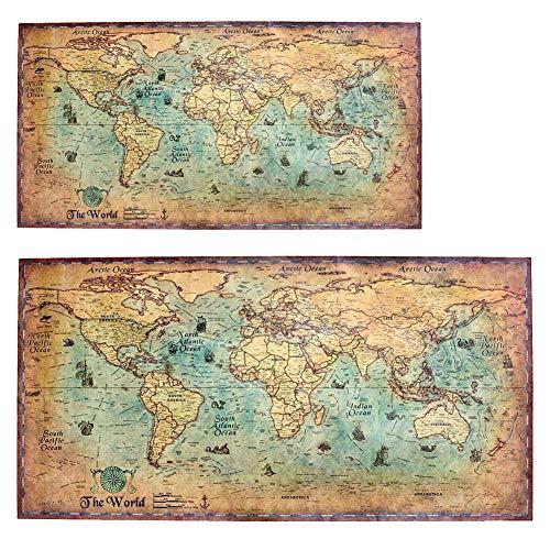 pegtopone Weinlese-Seeillustrations-Seeweltkarte-Retro alte Kunstdruckpapier-Malerei-Ergänzungs-Inneneinrichtungs-Plakat-Wand-Kunst-Bild masterwork