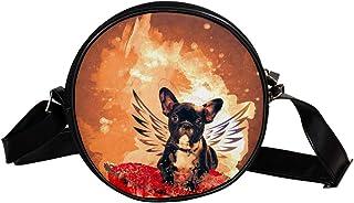 Coosun Umhängetasche für Hunde und Welpen, Ali, abstraktes Tier, rund, Schultertasche für Kinder und Damen