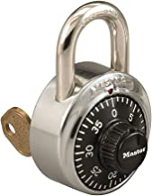 Master Lock Combination Padlock WITH KEY! Great for Schools, Gym, Work Lockers!