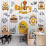 Mural de papel tapiz 3D grande personalizado pintado a mano panadería gourmet...