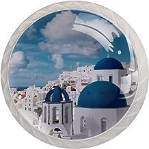 Santorini Building Blue Sky Set van 4 Lade Knoppen Trekt Kast Handvat voor Thuis Keuken Garderobe Kast Home Decor Hardware...