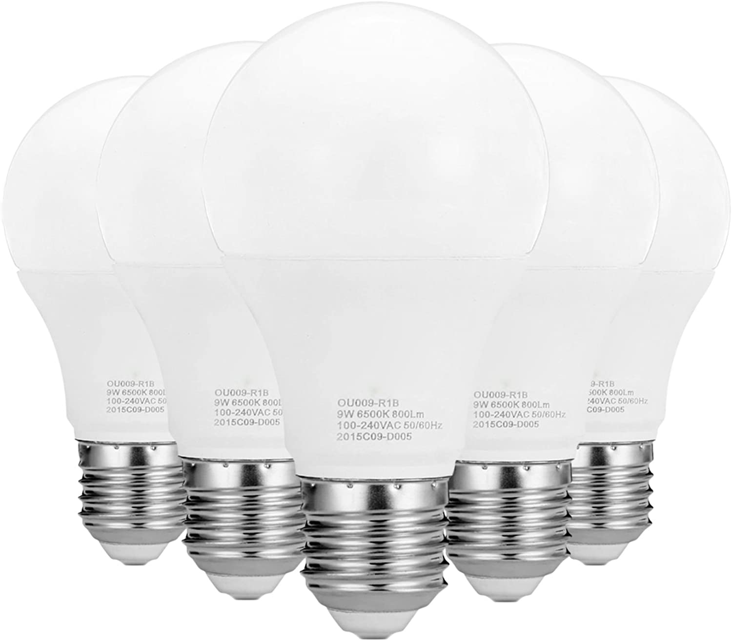 LL LED Ball Light LED NonDimmable A19 9W (800900LM) 2835 SMD E26 Medium Screw Base Warm White Cool White AC 100240V (5Pack) (Size   Warm White)