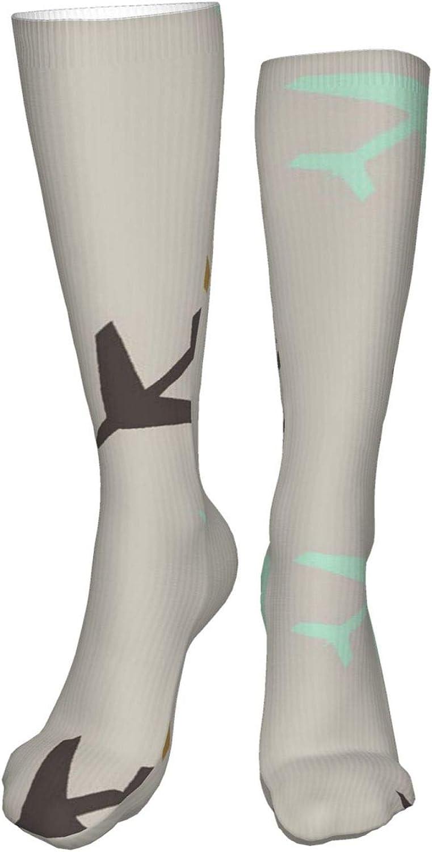 Neutral Airplanes Women Premium High Socks, Stocking High Leg Warmer Sockings Crew Sock For Daily And Work