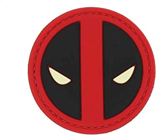 Deadpool (Glow in The Dark Eyes) Patch PVC Rubber Tactical Morale Patch – Hook Backed by NEO Tactical Gear