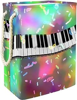 Vockgeng Touches de Piano Accueil Organisation Panier de Rangement imperméable Pliable de Jouets de Jouets de Panier avec ...