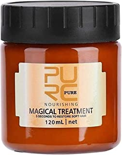 PURC Hair Mask for Dry Damaged Hair and Growth, Aliver Magical Hair Treatment Mask,5 Seconds to Restore Soft,Shine and Texture,Protect Hair Roots,Professional Deep Hair Conditoner (4 Fl Oz)