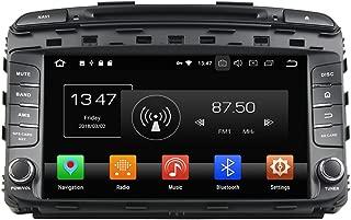 KUNFINE Android 9.0 Otca Core 4GB RAM Car DVD GPS Navigation Multimedia Player Car Stereo for KIA Sorento 2015 Steering Wheel Control 3G WiFi Bluetooth Free Map Update 9 Inch