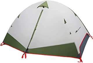 MOON LENCE Camping Tent 2 Person Family Tent Double Layer Outdoor Tent Waterproof Wind Proof Anti-UV