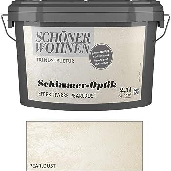 Schoner Wohnen 2 5 L Schimmer Optik Effektfarbe Perlmuttartiger Schimmer Silber Amazon De Baumarkt