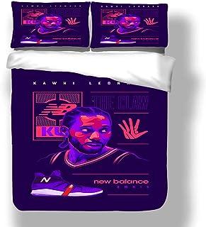 Juego de funda nórdica Kawhi Los Angeles Basketball Player 2 ropa de cama Fun Guy Leonard Clippers Super Star Línea de tres puntos Primera colcha con 2 fundas de almohada FMVP San Antonio Toronto Spur