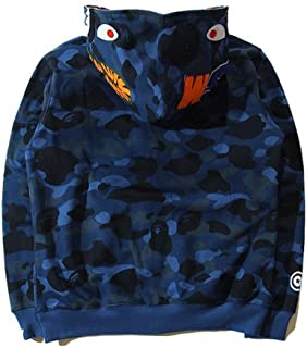 2019BAPE A Bathing Ape Full Zip HOODIE SHARK JAW CAMO SLEEVE Sweatshirt Jacket