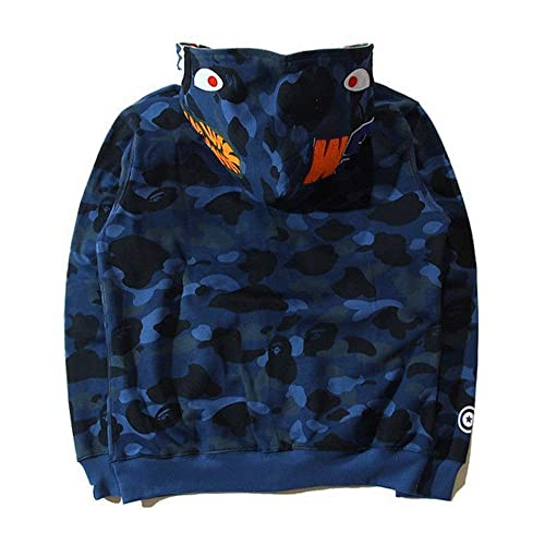 Bathing Ape Bape Shark Jaw Camo Full Zipper Hoodie Men/'s Sweats Coat Jacket