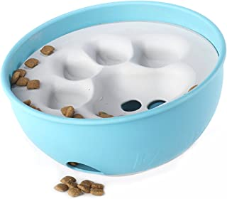PAW5 Rock 'N Bowl Puzzle Feeder Dog Bowl - Fun Interactive Enrichment Dog Dish - Slow Feeder for Dogs - Stops Bloating - B...