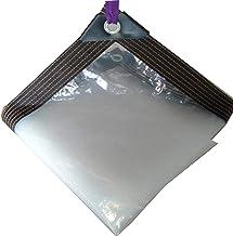 Zeildoek, transparant tarp met perforaties, met touw,5×8M