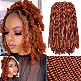 Xtrend 12 Inch Copper Red Spring Twist Hair...