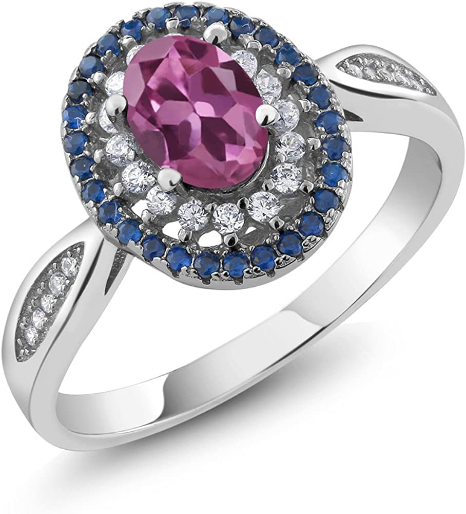 Gem Stone King 925 Sterling Engag Women's Tourmaline Max unisex 83% OFF Pink Silver
