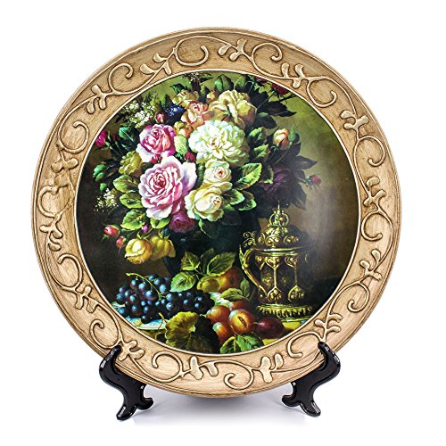 ZHAMS 10'' Ceramic Decorative Plate, Art Decoration (A)