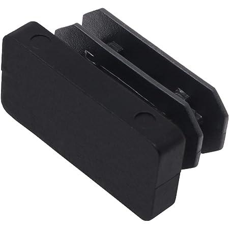 Negro 12x12 mm Adsamm INS-R-BL-1212-4 4 tapones de l/áminas
