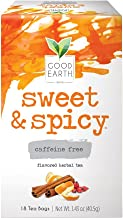 Sponsored Ad - Good Earth Herbal Tea, Sweet & Spicy, Caffeine Free, 18 Tea Bags (Pack of 6)