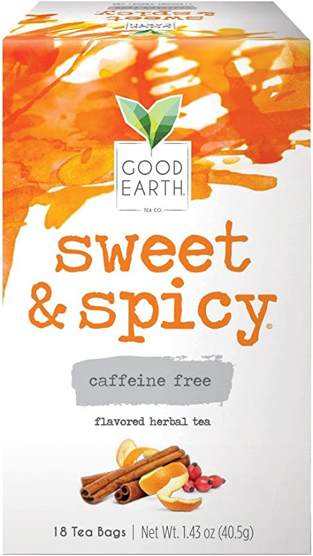 Good Earth Herbal Tea Sweet Spicy Caffeine Free 18 Count Tea Bags Pack Of 6 Packaging May Vary