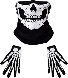Skull Gloves/Skull Mask/Halloween Accessories