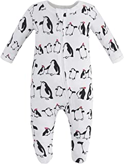 Organic Cotton Baby Boy Girl Zip Front Sleep 'N Play, Footed Sleeper, Long Sleeve