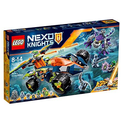 LEGO- Nexo Knights Scalarocce di Aaron Costruzioni Piccole Gioco Bambina, Multicolore, 70355