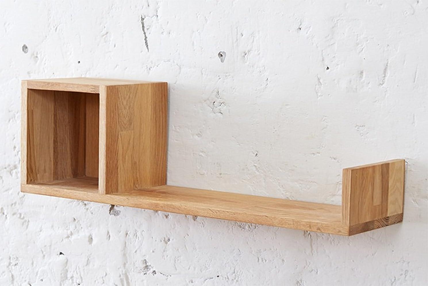 スピンルールアメリカ壁棚、モダンなシンプルなオーク環境保護CDラック、木製の壁の棚ブラケット、装飾ディスプレイ ウォールマウント (Color : #1)