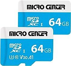 Micro Center 64GB microSDXC Card 2 Pack UHS-I Flash...