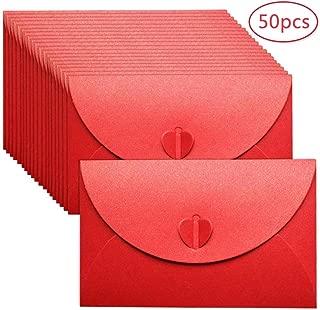 Art/ículos de Fiesta de Cumplea/ños Bodas de Tarjetas de Regalo Sobres Peque/ños 115x82mm para Oficinal Rojo BLUGUL 50 Piezas Mini Sobres