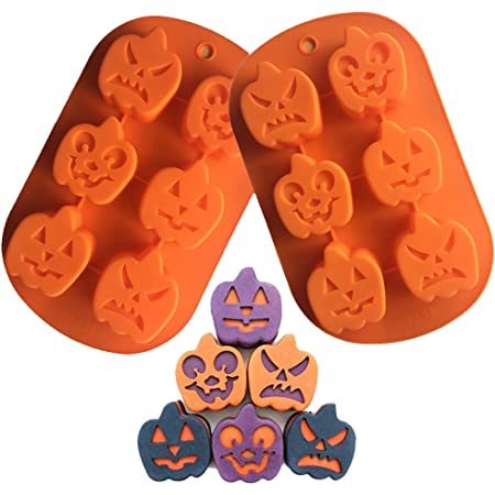 Craft Pumpkin Silicone Mould Ice Tray Ghost Face Biscuits 3D Halloween Mold