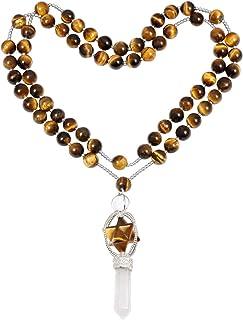 Natural Hand carved Crystal powder  Merkaba Star\uff0cSacred Geometry Star\uff0cQuartz Crystal\uff0cChakra Carved Pendant\uff0cReiki Healing Necklace 1/'/'