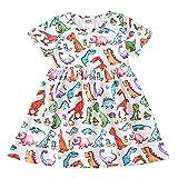 ChYoung Niño bebé bebé niña Vestido Trajes de Verano Ropa 0-18m recién Nacido bebé Dibujos Animados estantes Impresos