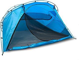 outdoorer Carpa de Playa Santorin Family, UV 80, Carpa de protección Solar para Cerrar, con ventilación y mosquitero, Embalaje pequeño para los Viajes, Resistente al Agua