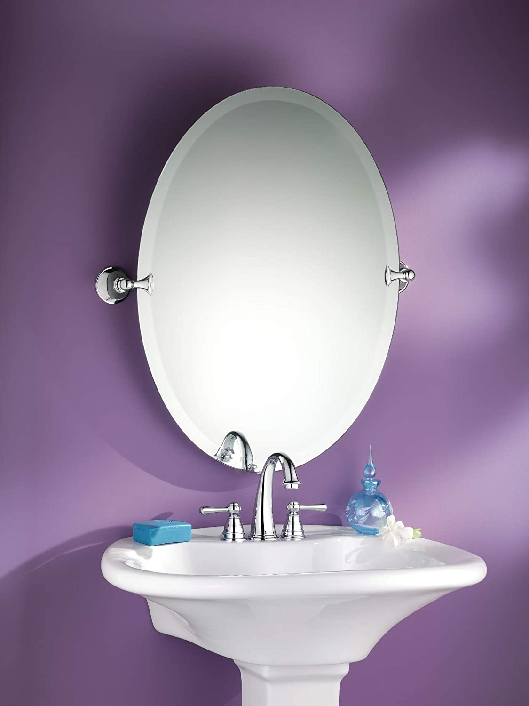 Buy Moen Dn2692ch Glenshire 26 X 22 Inch Frameless Pivoting Bathroom Tilting Mirror Chrome Online In Indonesia B001d0p6cs