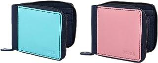 Posha Genuine Leather Wallet Combo for Women, Girls - Diwali Gift for Girl Women Girlfriend (Green & Pink)