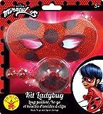 Rubies - Kit de accesorios oficiales de lupa con purpurina + Yoyo + pendientes Miraculous Ladybug-I-300295 para disfraz, niño, unisex, I-300295, multicolor