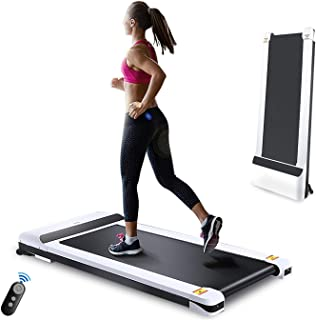 UMAY Under Desk Treadmill for Home & Office with Foldable Frames Walking Pad Small Flat Treadmill Machine with Low Noise & Sports App for Small Spaces…