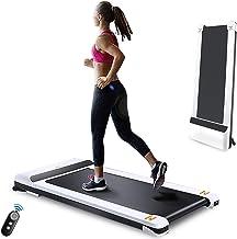 UMAY Portable Treadmill with Foldable Wheels, Under Desk Walking Pad Flat Slim Treadmill, Sports App, Installation-Free, R...