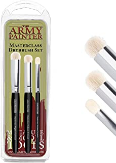 The Army Painter | Masterclass: Drybrush Set | Hobby Brush Set in Three sizes for Advanced and Professional Techniques for...