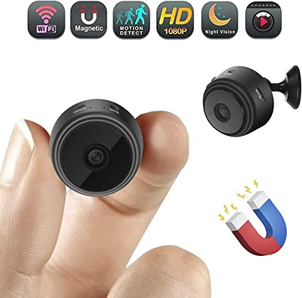 Cyperlink Mini Spy Camera WiFi Hidden Camera Wireless HD 1080P Indoor Home Small Spy Cam Security Cameras/Nanny Cam Built-in Battery with Motion Detection/Night Vision for iPhone/Android Phone/iPad/PC