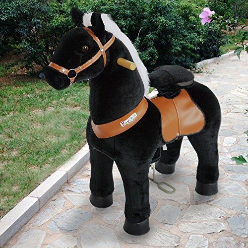 PonyCycle ORIGINAL équitation dynamique sur le poney d'exercice physique Cheval noir petit